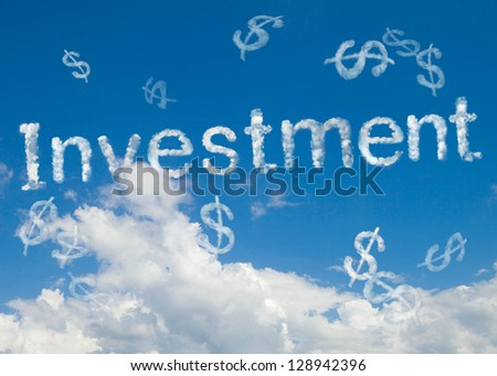 investment cloud word - stock photo