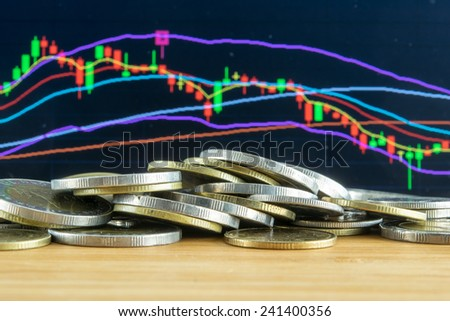 Investment fail on Stock market concept - stock photo