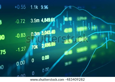 "Investment growth concept with price of gold on gold market graph background:Candle stick graph of gold market investment trading which including of Up/Down sign as called ""Bullish and Bearish point""."