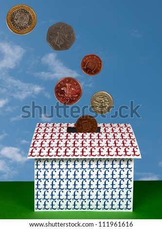 Investment in property, houses UK - concept - stock photo