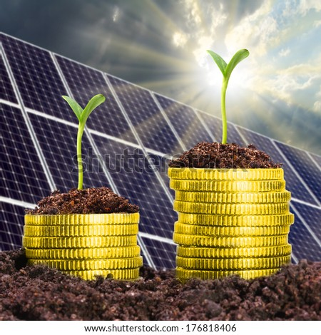 Investments in the energy industries. Business metaphor.  - stock photo