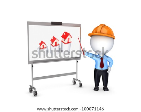 Investments to real estate concept.Isolated on white background.3d rendered. - stock photo