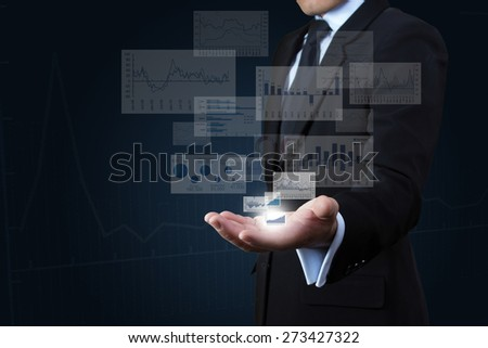 Investors with reported profits on hands. - stock photo