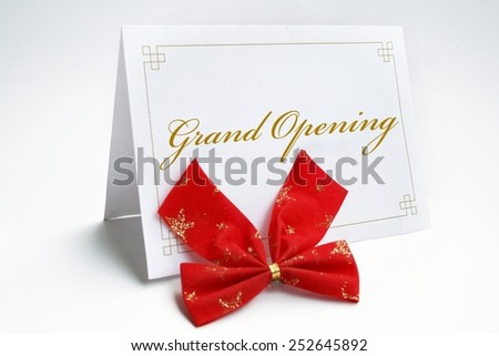 Invitation- grand opening - stock photo