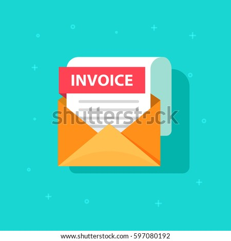 Interior Design Invoice Template Excel Invoice Bill Stock Images Royaltyfree Images  Vectors  Good Receipt Pdf with Child Support Receipt Word Invoice Icon Email Message Received With Bill Document Flat Style Open  Envelope With Invoice Canada Invoice Template Pdf