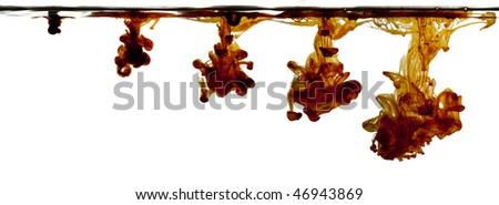 iodine drop making fluid explosion - stock photo