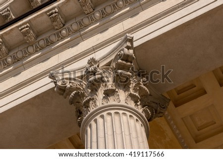 Ionian column capital architectural detail