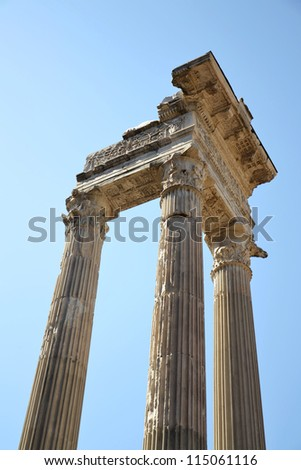 Ionic Columns in the centre of Rome, Italy