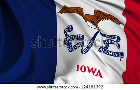 Iowa flag - USA state flags collection no_3 - stock photo