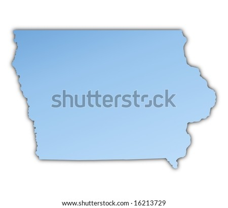 Silver Map State Iowa Stock Vector Shutterstock - Map usa iowa