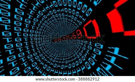 IP address data tunnel - stock photo
