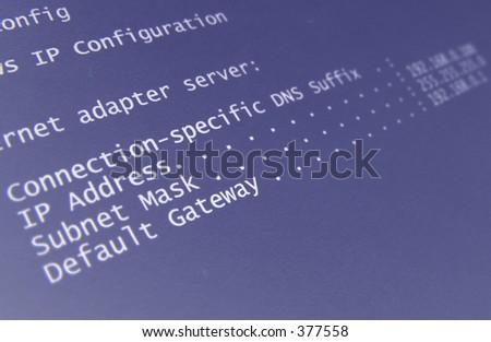 ip adress - stock photo