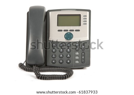 IP Phone on White Isolated Background