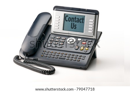 IP Phone telephone isolated on white background - stock photo