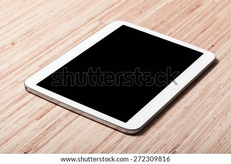 Ipade, white, tablet. - stock photo