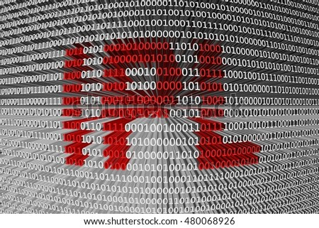 IPL in the form of binary code, 3D illustration