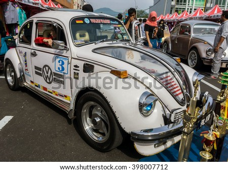 IPOH,MALAYSIA - MARCH 27, 2016: Volkswagon close up at the Ipoh Morning Market Autoshow 2016.