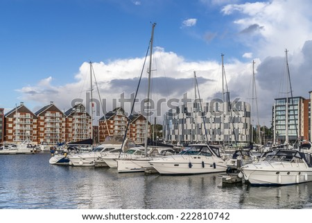 Ipswich Marina and Waterfront - stock photo