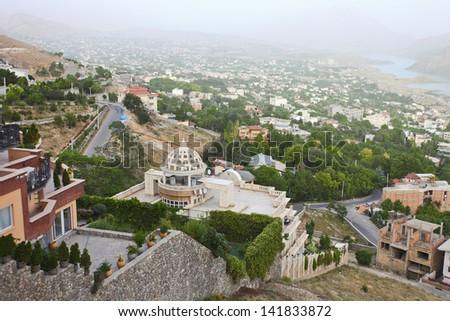 Iran Deheran villa area  - stock photo