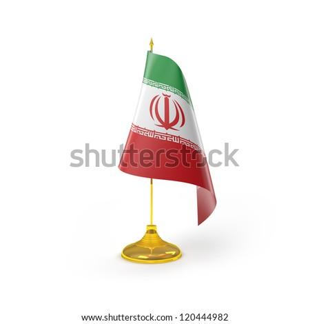 Iran Flag Detail Render - stock photo