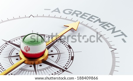 Iran High Resolution Agreement Concept - stock photo