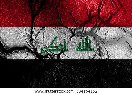 Iraq flag - stock photo