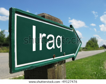 IRAQ road sign