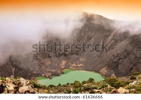 Irazu Volcano in Costa Rica - stock photo