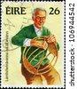IRELAND - CIRCA 1983: A stamp printed in Ireland Republic shows Basket making, Irish Handicrafts series, circa 1983 - stock photo