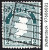 IRELAND - CIRCA 1922: A stamp printed in the Ireland shows Map of Ireland, circa 1922 - stock photo
