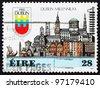 IRELAND - CIRCA 1988: a stamp printed in the Ireland shows Town of Dublin, Millennium, circa 1988 - stock photo