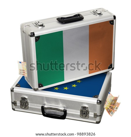 Ireland financial crisis. Financial assistance. - stock photo