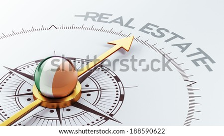 Ireland High Resolution Real Estate Concept - stock photo