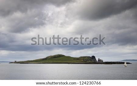Ireland's Eye, Howth, Dublin, Ireland - stock photo