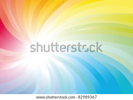 Iridescent spiral abstract colorful background - stock photo