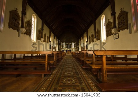 Irish Catholic Church Interior