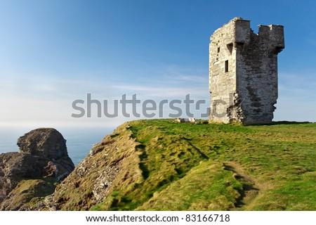 Irish Cliffs of Moher - stock photo