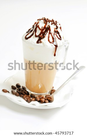 irish coffee isolated on white background