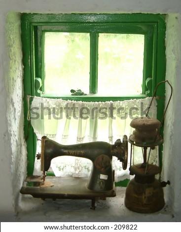 Irish cottage - stock photo