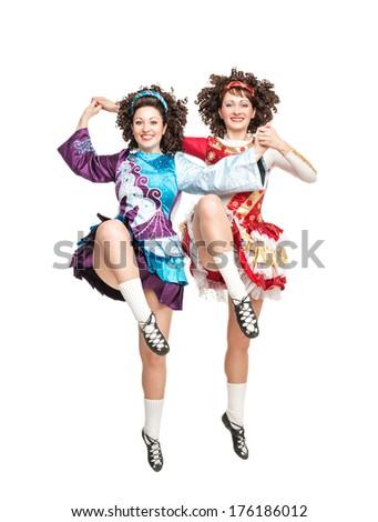 Irish dance  - stock photo