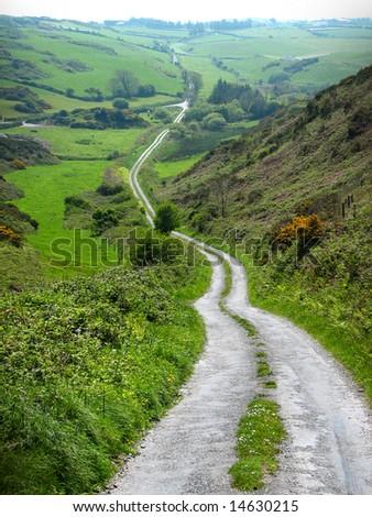 irish road - stock photo