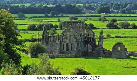Irish ruins in Cashel - stock photo
