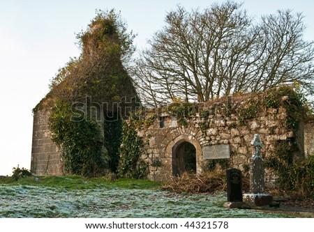 Irish tomb - stock photo