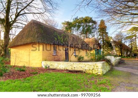 Irish traditional cottage - stock photo
