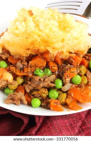 Irish version of shepherd's pie - stock photo