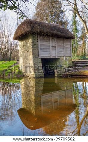 Irish watermill - stock photo
