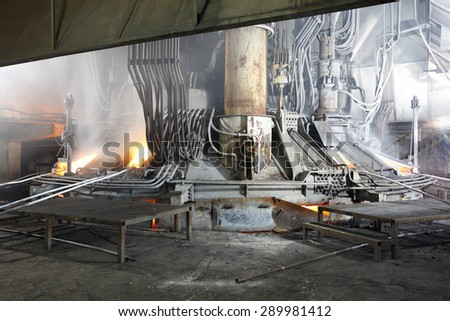 Iron and steel industry - stock photo