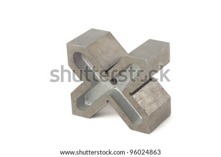 Iron anvil isolated on white - stock photo