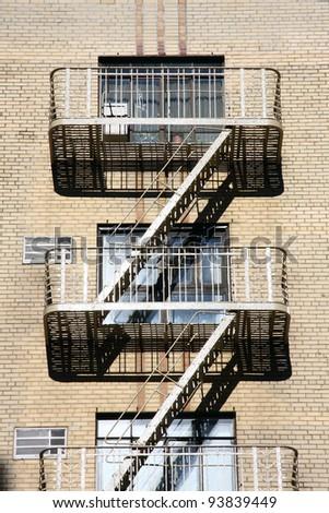 iron balcony at new york - stock photo
