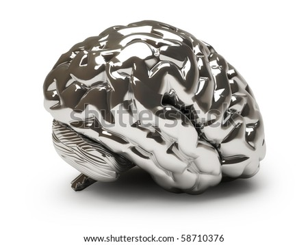 Iron brain - stock photo